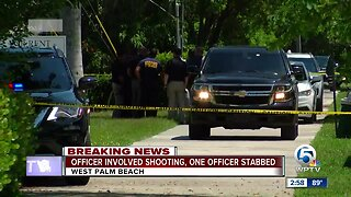 Officer-involved shooting, police officer stabbed in West Palm Beach