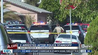 2 arrested after police standoff Thursday - Video