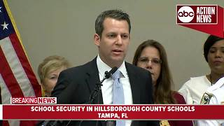 School security in Hillsborough County Schools | News Conference - Video