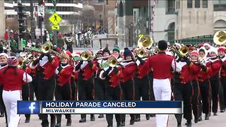 Milwaukee's Holiday Parade Cancelled - Video