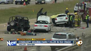 Community mourns family killed in dui crash - Video