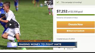 Youth soccer team raising money to fight hate - Video