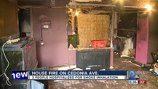 3 hospitalized in Cedonia Avenue house fire