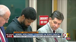 Father pleads not guilty to aggravated vehicular homicide in son's death - Video