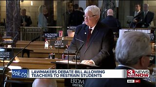 Lawmakers debate bill allowing teachers to restrain students