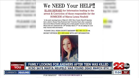 Teen Marya Neufeld found killed near orchard leaves unanswered questions