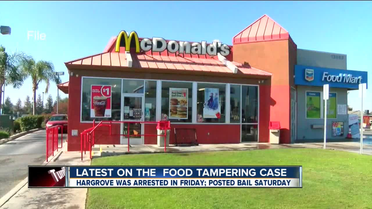 McDonald's employee allegedly shown tampering with Bakersfield police officer's food