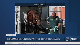Miramar mounties patrol over holidays