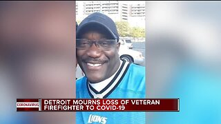 Detroit mourns loss of veteran firefighter to COVID-19