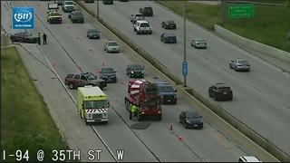 Cement spill closes lanes on I-94