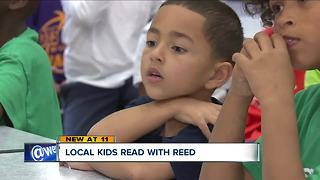 Local children read with Reed - Video
