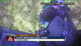 Everglades hiker rescued by Collier County Sheriff's office - Video