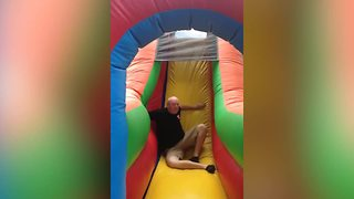 Bouncy Castle Obstacle Course Fail