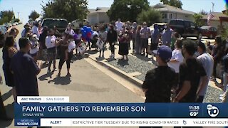 Family gathers to remember son