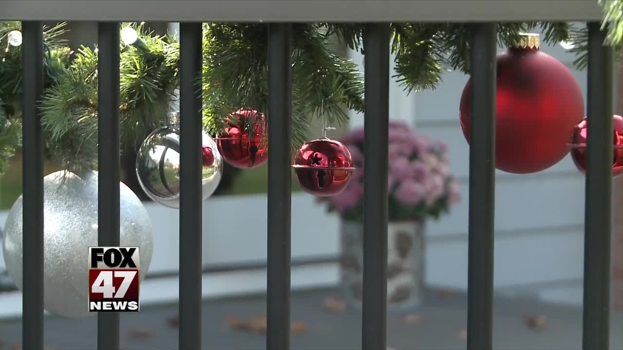Christmas decorations popping up before Thanksgiving