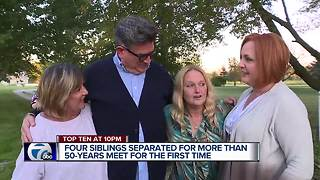 Four siblings separated for 50 years meet after reconnecting on Facebook - Video