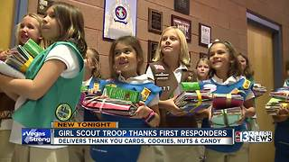 Local Girl Scouts deliver cards to first responders - Video