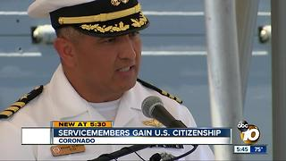 Servicemen gain U.S. citizenship - Video
