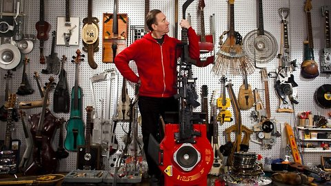 Guns And Hoses! Performer Transforms Guns, Boots, Hockey Sticks, Suitcases And More Into Incredible Musical Instruments