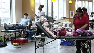 Donors show up to donate blood, UMMC holding three-day drive