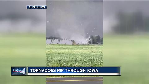 Tornadoes rip through Iowa leaving wake of destruction