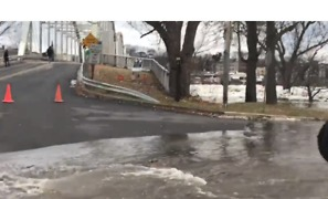 Ice Jams Cause River to Flow Onto Pennsylvania Streets, Prompting Evacuations