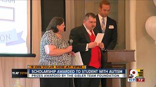 Scholarship awarded to student with autism at Covington's Carnegie Hall - Video