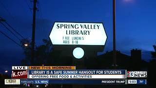 Local library provides food, place for kids during summer - Video