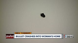 Henderson woman frightened after bullet flies through her window