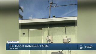 Couple says Florida Power & Light truck damaged their property