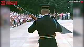 One Man Disrupts Changing Of The Guard - Video
