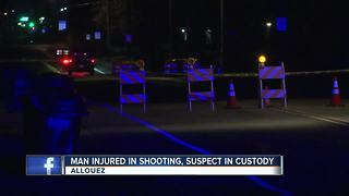 Shooting in Allouez injuries one man, one in custody - Video
