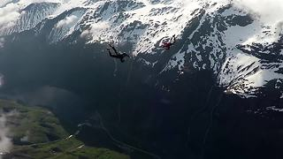 Epic Skydiving Footage Through Norwegian Fjord - Video