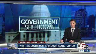 What the government shutdown will mean for Hoosiers - Video