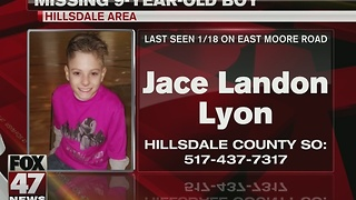 Hillsdale area boy reported missing - Video