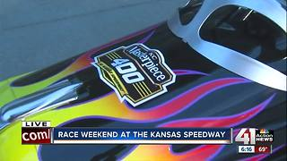 It's race weekend at the Kansas Speedway - Video