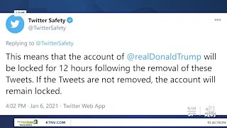 Trump's Twitter account locked