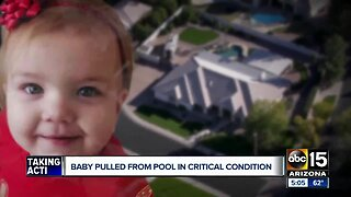1-year-old critical after near-drowning in Mesa