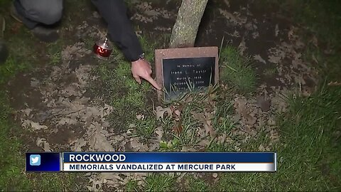 Memorial trees, plaques vandalized at park in Rockwood