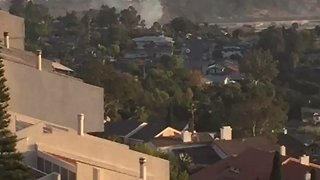 Brush Fire Sparks Near San Diego State University - Video