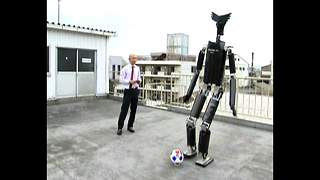 2-Meter Robot Plays Soccer - Video