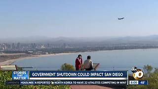 Government shutdown could effect San Diego - Video