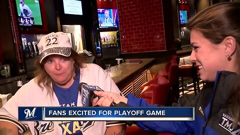 """We are going to win on Tuesday"": Brewers fans look forward to Wild Card Game"