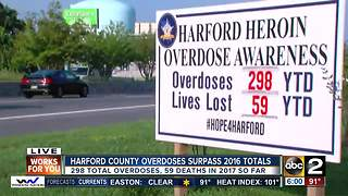 Heroin overdose numbers in Harford Co. surpass all of last year - Video