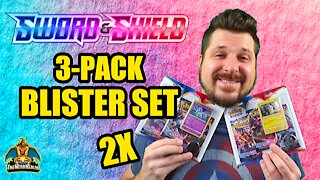Sword & Shield 3-Pack Blister Set | Pokemon Opening