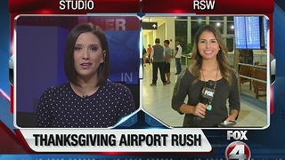 SWFL airport traffic Thanksgiving live report 630 - Video
