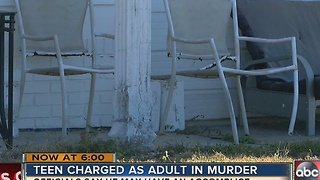 Teen charged with murder