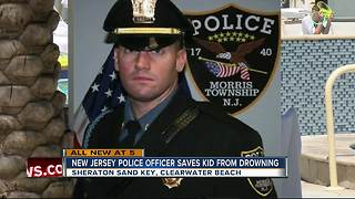 New jersey Police Officer saves kid from drowning - Video