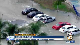 Water main break floods North Park