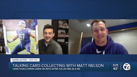 Surprising Lions tackle Matt Nelson with his first Panini football card